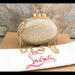 Christian Louboutin Strass Crystal Mina Clutch